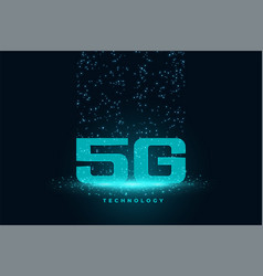generation 5g technology concept techno vector image