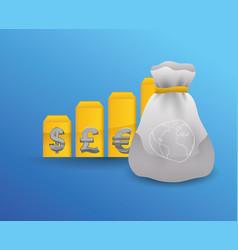 global money economy vector image vector image