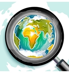 Global search doodle vector image