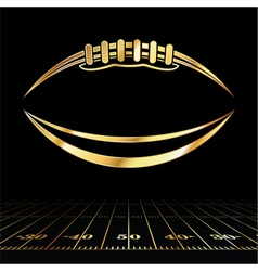 Golden American Football and Field Lines vector image