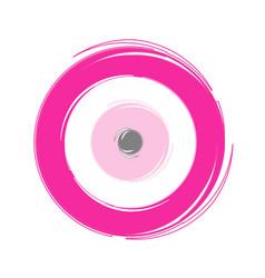Greek pink evil eye on white background vector