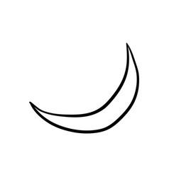 halloween moon doodle element isolated vector image