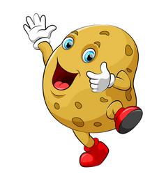 happy potato cartoon character vector image