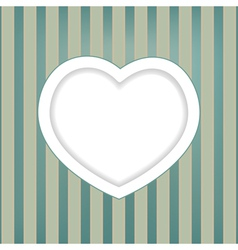 heart retro background vector image