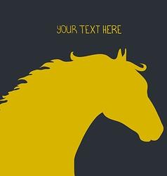 HorseHead4 vector image
