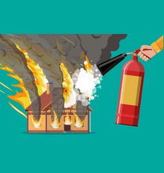 house burns extinguish fire in home vector image