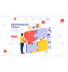 idea interactive engineer concept vector image