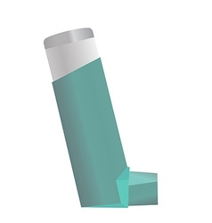 Inhaler for asthma and other respiratory diseases vector