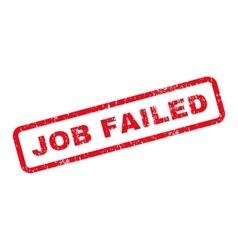 Job Failed Text Rubber Stamp vector