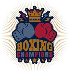 kings boxing dark blue vector image