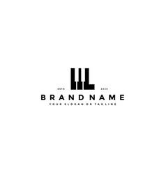 Letter l piano logo design vector