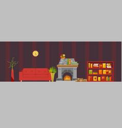 living room interior cozy vector image