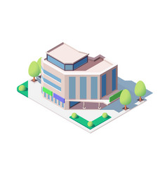 modern shopping center vector image