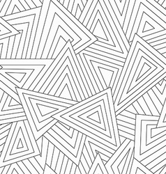 Monochrome scattered triangle seamless texture vector