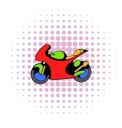 Motorcycle icon comics style vector image