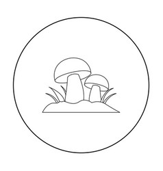 Mushroom icon outline single plant icon from the vector