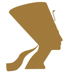Nefertiti black and yellow squares vector image