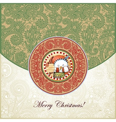 ornate christmas vintage template vector image