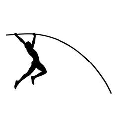 pole vault athlete jumper vector image