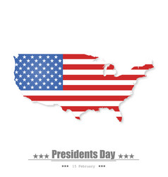 presidents day background flat design vector image