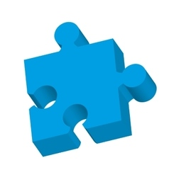 puzzle game piece isolated icon vector image