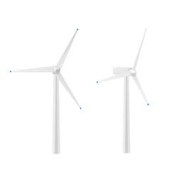 Realistic wind turbine generator vector