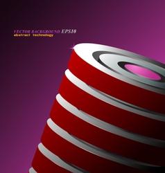 Red circular shaped vector