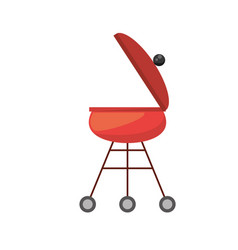 Red grill cooking picnic vector