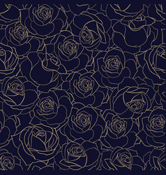 rose flowers seamless background vector image