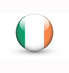 Round icon with national flag of Ireland vector image