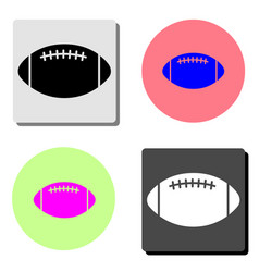 rugby ball flat icon vector image