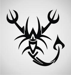 Scorpion Tribal vector image