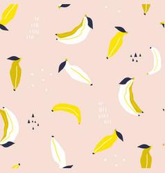 seamless banana pattern creative banana texture vector image