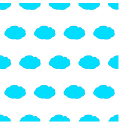 seamless pattern with blue clouds on white vector image