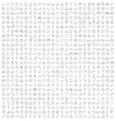 Set line icons sport vector