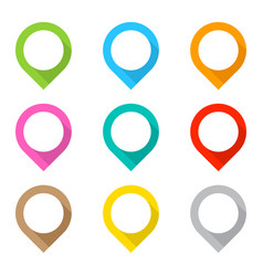 Set of colored map pins vector