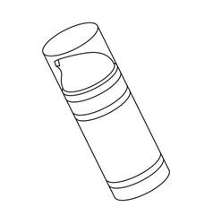 shaving foambarbershop single icon in outline vector image