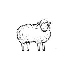 sheep hand drawn sketch icon vector image