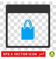 Shopping bag calendar page eps icon vector