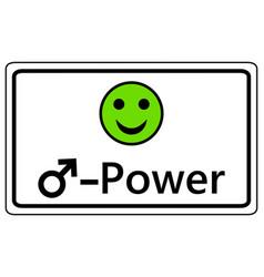 Sign happy smiley for men power vector