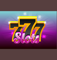 slots 777 banner casino vector image