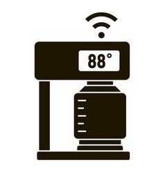 smart coffee machine temperature icon simple vector image