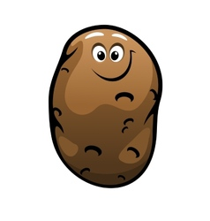 Smiling cartoon farm potato vegetable vector image