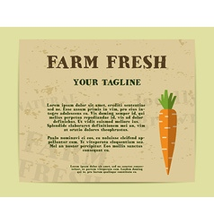 Stylish Farm Fresh poster template or brochure vector