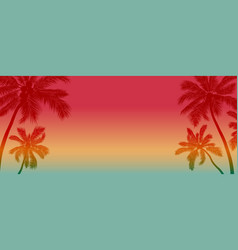 summer background design coconut tree vector image