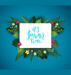 tropic summer time vector image