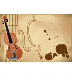 Vector illustration of violin vector