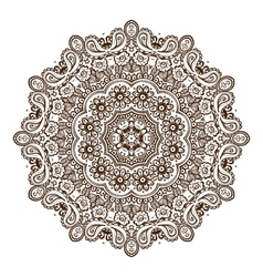 Vintage circular pattern of indian vector