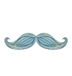 Vintage mustache isolated on white background vector image