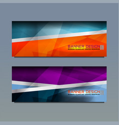 Web banner template design vector